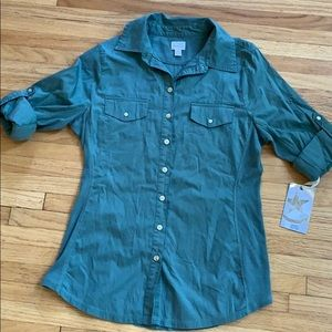 Converse One Star Army Green Blouse